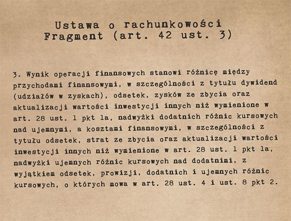 Fragment ustawy o rachunkowości - art. 42 ust. 3