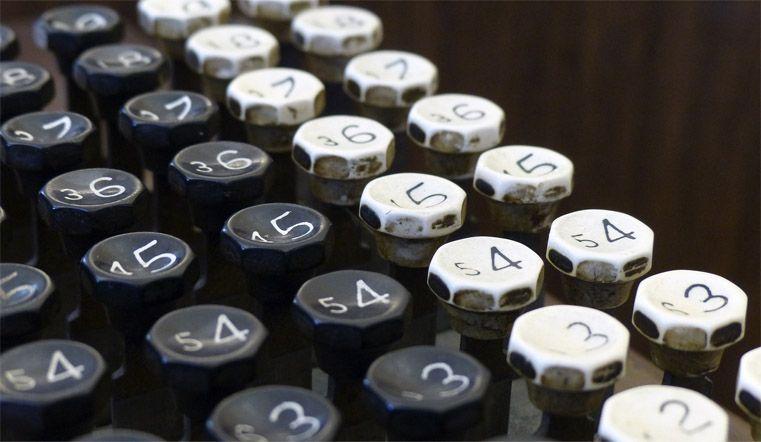 Klawisze maszyny do pisania - obraz stockowy